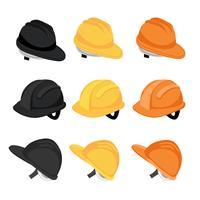 projeto de coleção de vetor de capacete