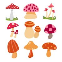 mushroom vector collection design