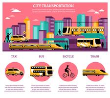 city transport infographics layout