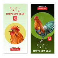 Year Of Rooster 2017 Vertical Banners