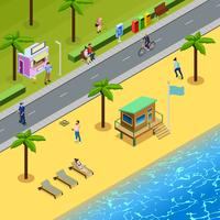 Isometric People Society Illustration