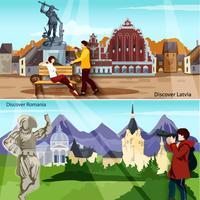 Conjunto de composições de países europeus