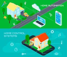 Ensemble de bannières isométriques Smart Home