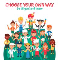 People Professions Cartoon Illustration