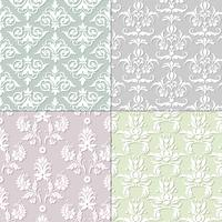 pastel seamless damask patterns
