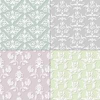 pastel seamless damask patterns