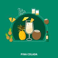 Cocktail Recipe Template vector