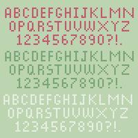 alfabeto de ponto de cruz