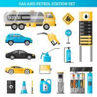 Conjunto gasolinera y gasolinera
