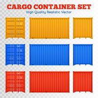 Cargo Container Transparent Set