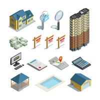 Real Estate Isometric Icons Collection