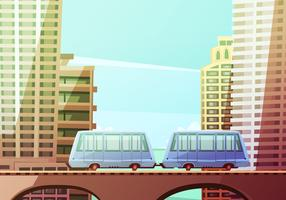 Miami Suspended Monorail vector