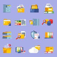 Ställ in ikoner för arkiv