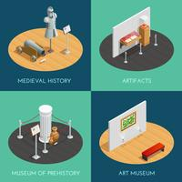 Museum Isometric 2x2 Compositions