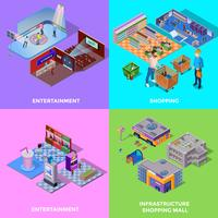 Shopping Mall 2x2 Icons Set
