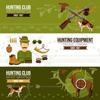 Banners horizontales de caza