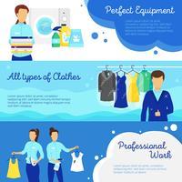 Wäscherei-Banner eingestellt