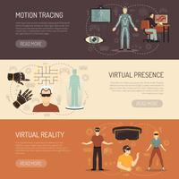 Virtual Reality Games Banners vector