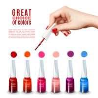 Best Nail Polish Colors Realistic Poster