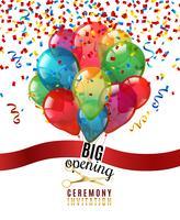 Ceremonia de apertura invitación fondo