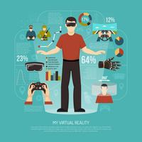 Illustration vectorielle de réalité virtuelle