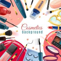 Cosmetics Flat Background