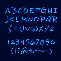 Hand Lettering Neon Style Blackboard Poster