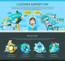 Customer Support Page Design  vector