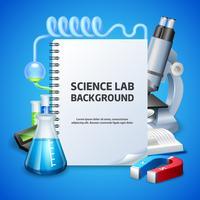 Sfondo del laboratorio di scienze