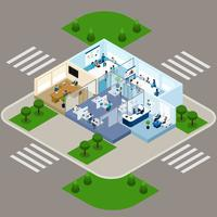 One Storied Office isometric Interior Icon