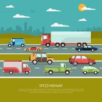 Illustrazione della strada principale di velocità