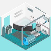 Heizungs-Kühlsystem-isometrisches Innenkonzept