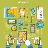 Ilustración vectorial de navegación