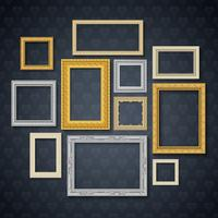 Frames On Dark Wall Set