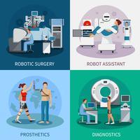 Concetto di design Bionic 2x2 con attrezzatura robotica