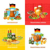 Conceito de Oktoberfest 4 Flat Icons Square