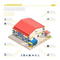 Warehouse Building Isometric Illustration