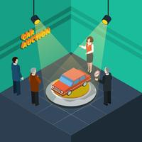 Car Auction Isometric vector