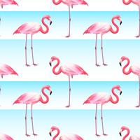 Pink Flamingo Seamless Horizontal Stripes Pattern