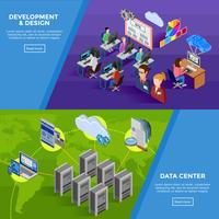 Development Isometric Horizontal Banners
