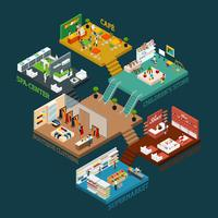 Multi Storied Shopping Mall Isometric Icon