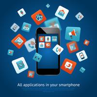 Póster de aplicaciones para smartphone