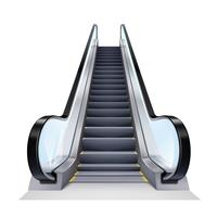 Realistische Rolltreppe Illustration