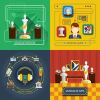 Museum Icon Composition Set vector