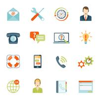 Contact Us Customer Support Icons Set