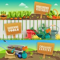 Three Gardening Horizontal Banners