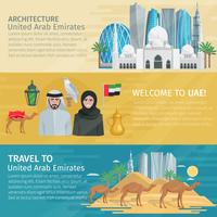 Vereinigte Arabische Emirate Travel Banner Set