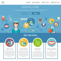 Dental Care Page Design
