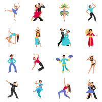 Icono de baile plana
