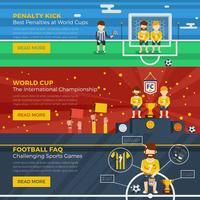 Conjunto de banners horizontales de fútbol